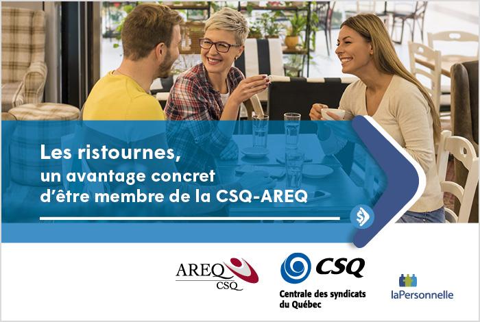 Les ristournes, un avantage concret d'être membre de l'AREQ-CSQ