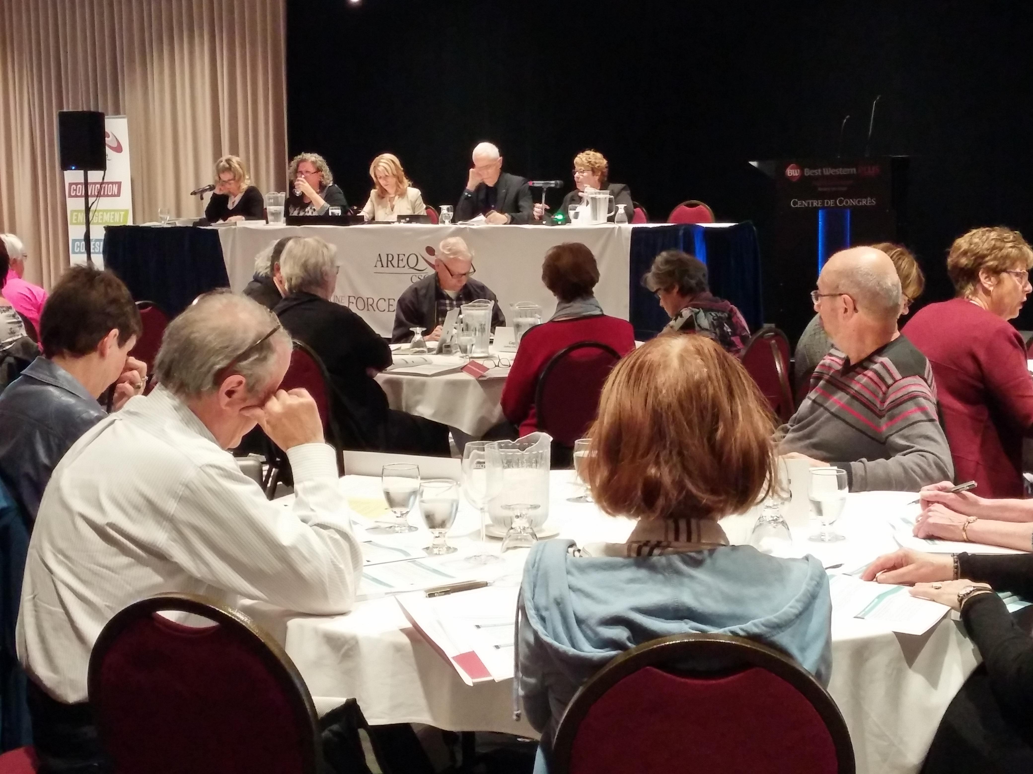 L'AREQ s'invite à Rivière-du-Loup pour une rencontre interrégionale des membres des conseils sectoriels regroupant près de 150 personnes