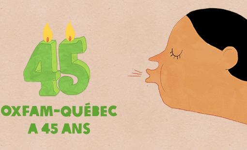 Oxfam-Québec fête ses 45 ans