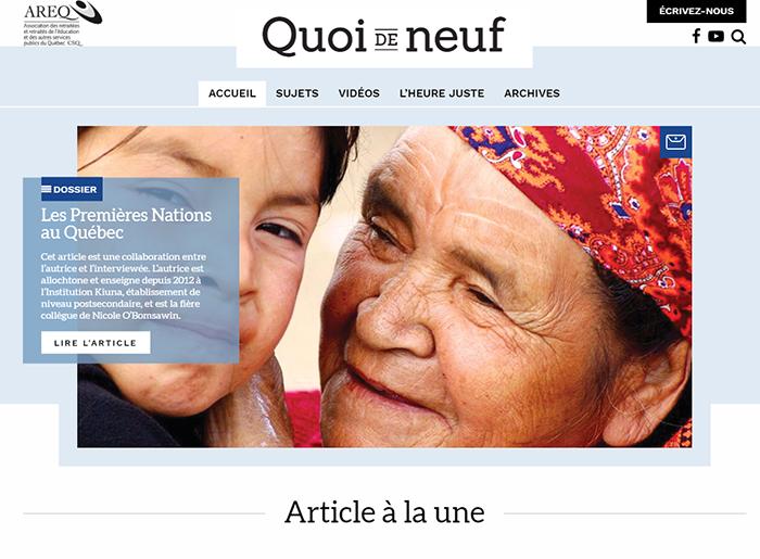 Votre magazine Quoi de neuf a désormais son propre site Internet!