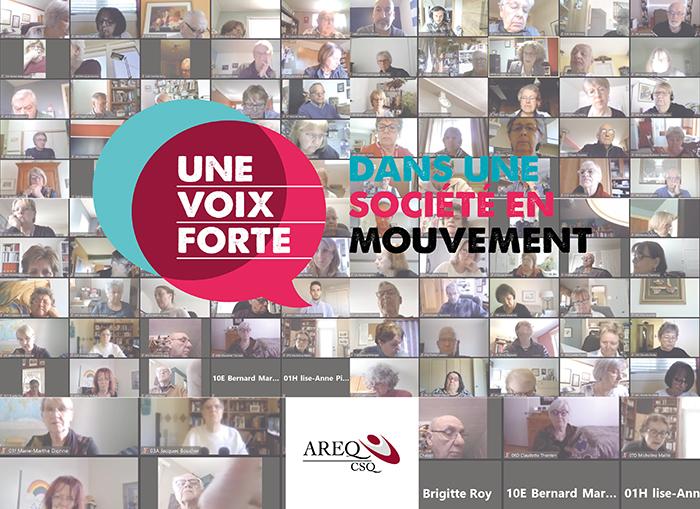 Conseil national de l'AREQ : Une centaine de personnes aînées de toutes les régions se branchent en vidéoconférence!