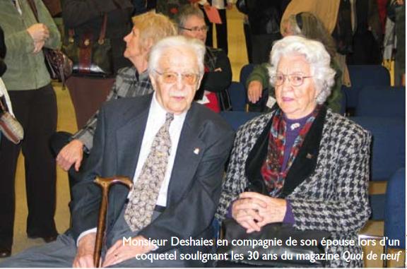 Décès de Cyrille-Antonio Deshaies, membre fondateur de l'AREQ