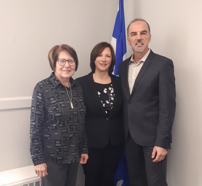 L'AREQ secteur Amiante rencontre la députée de Lotbinière-Frontenac pour la sensibiliser sur le dossier de l'indexation