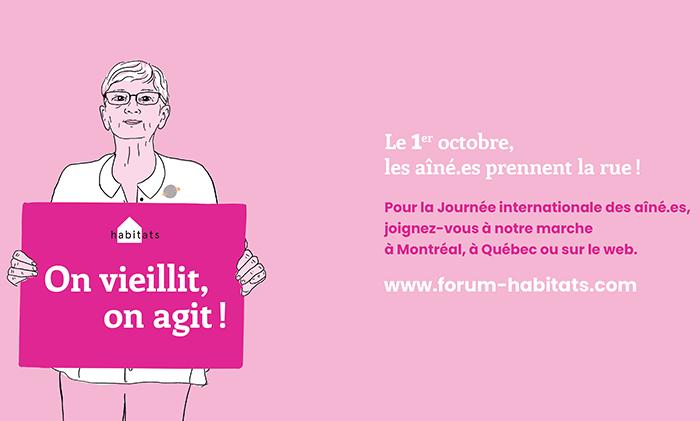 Un et un font mille – Organisation d'une marche pour la Journée internationale des aînés