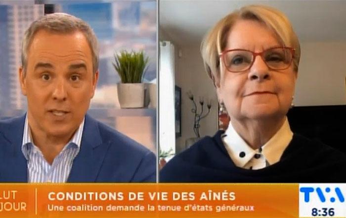 Lise Lapointe, présidente de l'AREQ, en entrevue à Salut Bonjour